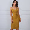 Harriet Dress| Yellow, Bandage Dress - Viva Devine