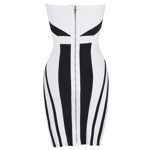 Image of Heather Strapless Mini Dress, Bandage Dress - Viva Devine