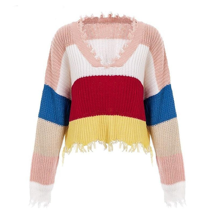 Jasmine Rainbow Tassels Sweater