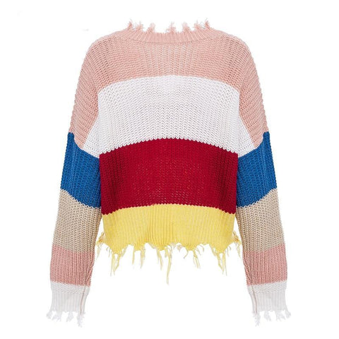 Image of Jasmine Rainbow Tassels Sweater, Top - Viva Devine