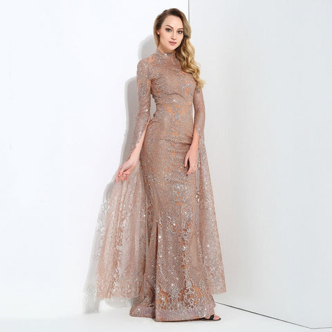 Juliette Glitter Gown | Rose Gold, Formal Dress - Viva Devine