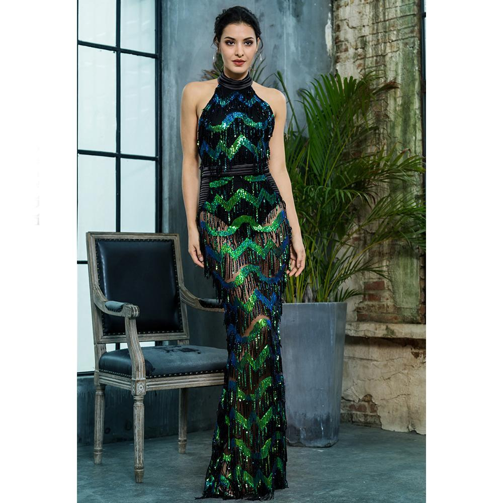 Kamali Tassel Sequins Formal Dress, Formal Dress - Viva Devine