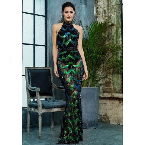 Image of Kamali Tassel Sequins Formal Dress, Formal Dress - Viva Devine
