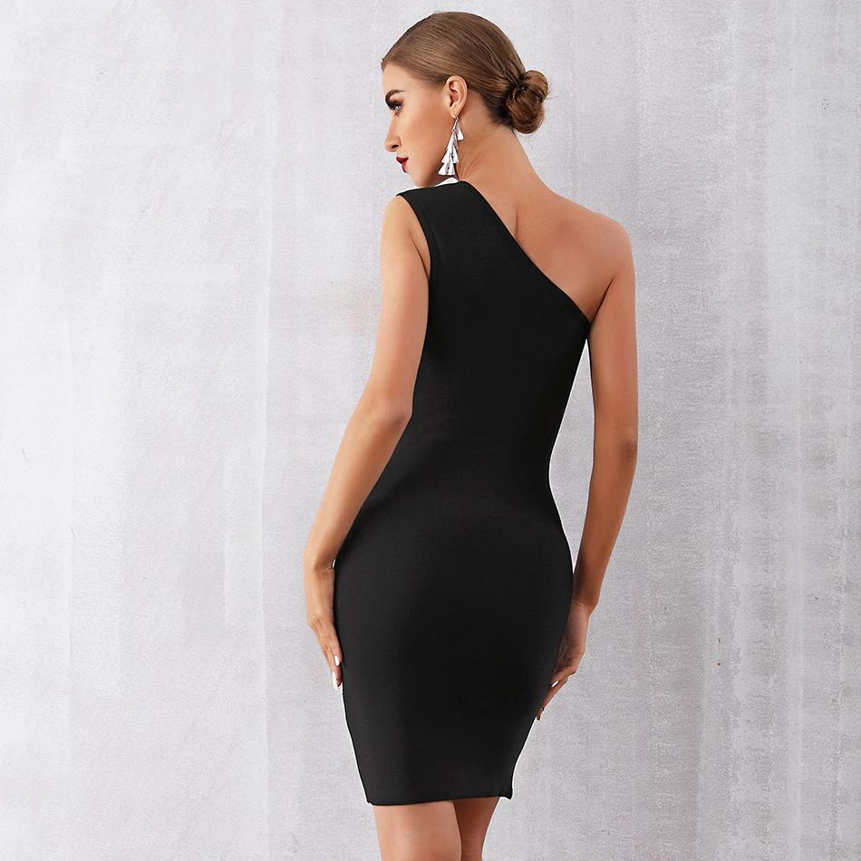 Laurica One Shoulder Zipper Dress