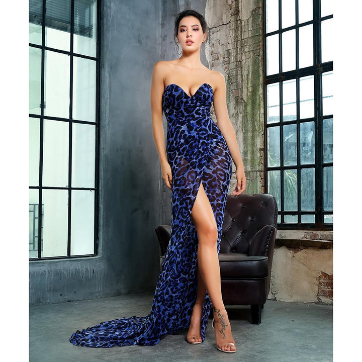 Malena Leopard Maxi Dress, Formal Dress - Viva Devine