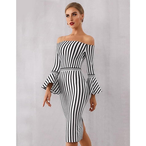 Image of Mandy Stripe Bandage Dress