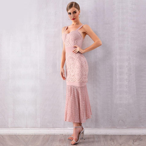 Image of Nikita Lace Mermaid Midi Dress