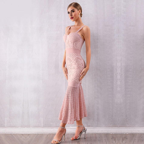 Nikita Lace Mermaid Midi Dress