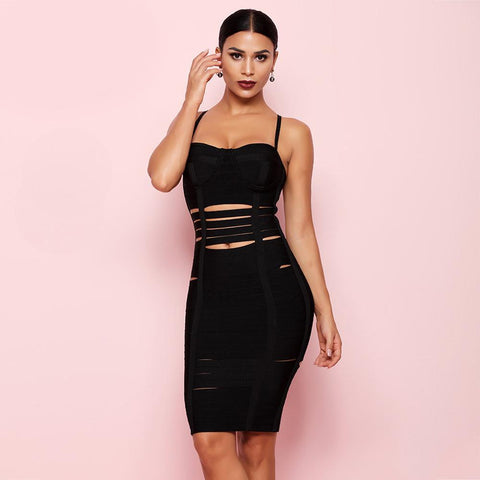 Image of Oscar Cut Out Bandage Dress, Bandage Dress - Viva Devine