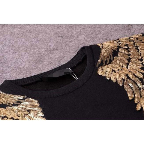 Image of Find Your Wings Sweater Black, Sweater - Viva Devine