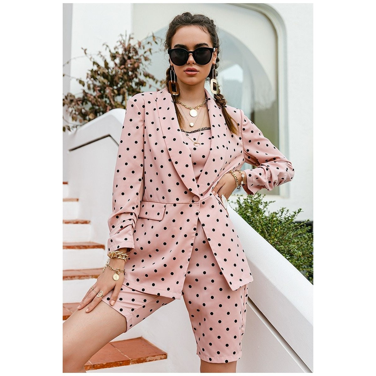 Barbie Light Pink Polka Dot Two Piece Sets