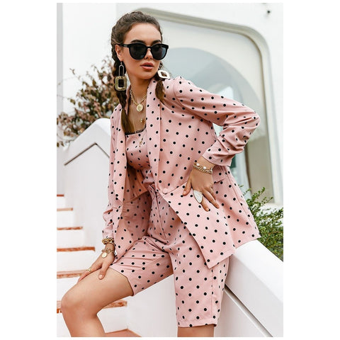 Image of Barbie Light Pink Polka Dot Blazer