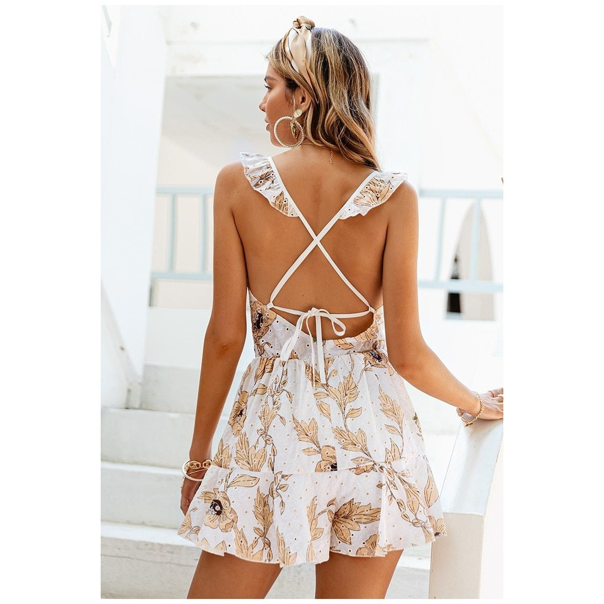 Maisy Ruffled Floral Print Romper