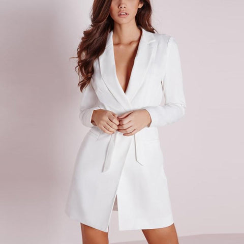 Image of Taylor Blazer Belts Coat Plus Size - Viva Devine