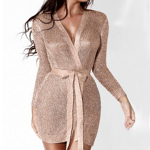 Helena Knitted Cardigan Dress, Cardigan - Viva Devine
