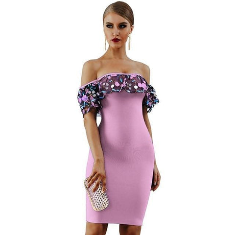Image of Athena Off The Shoulder Floral Dress