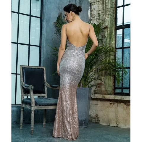 Image of Melrose V Neck Formal Dress, Formal Dress - Viva Devine