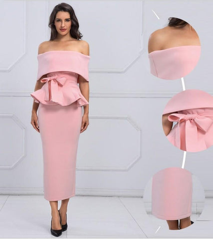 Image of Seledona Two Pieces Dress | Pink - Viva Devine