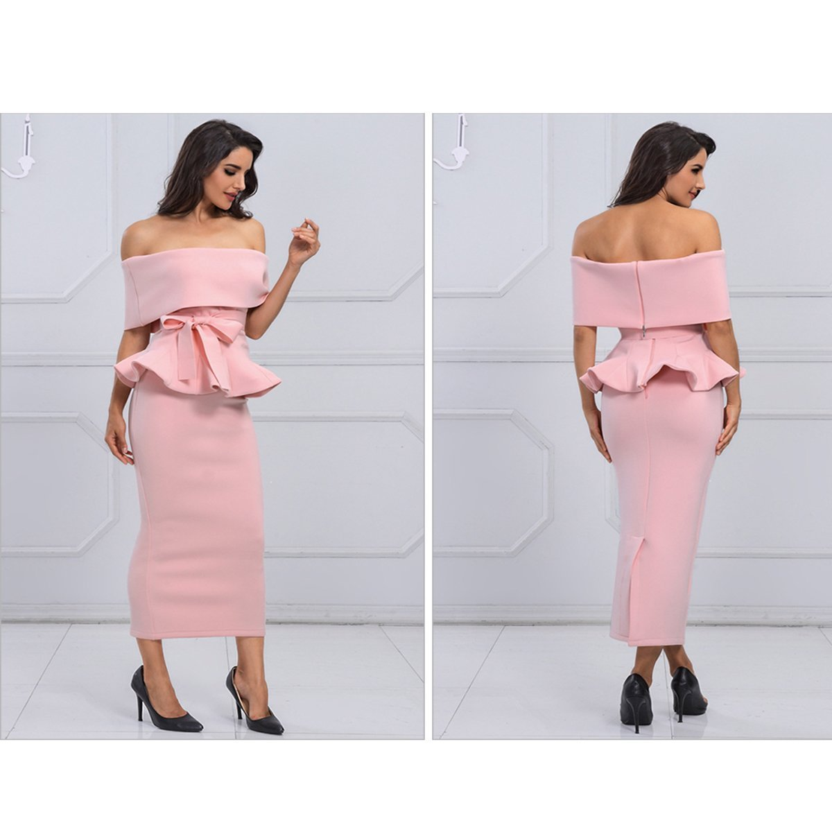 Seledona Two Pieces Dress | Pink - Viva Devine