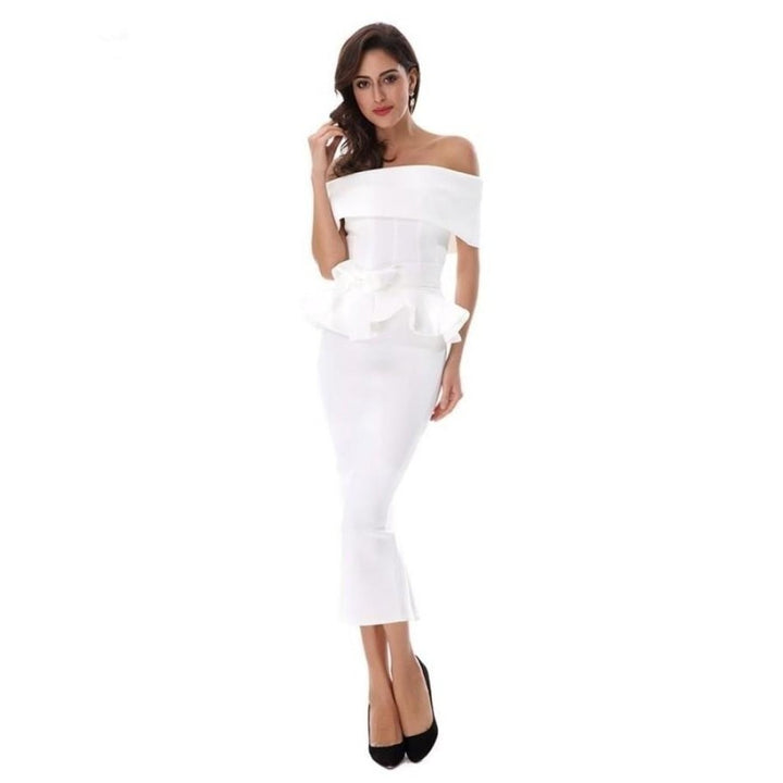 Seledona Two Pieces Dress | White