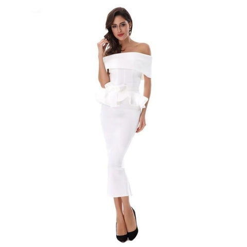 Seledona Two Pieces Dress | White - Viva Devine