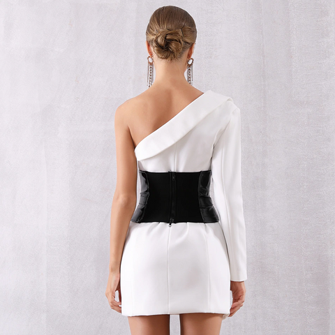 Image of Sirene One Shoulder Party Dress