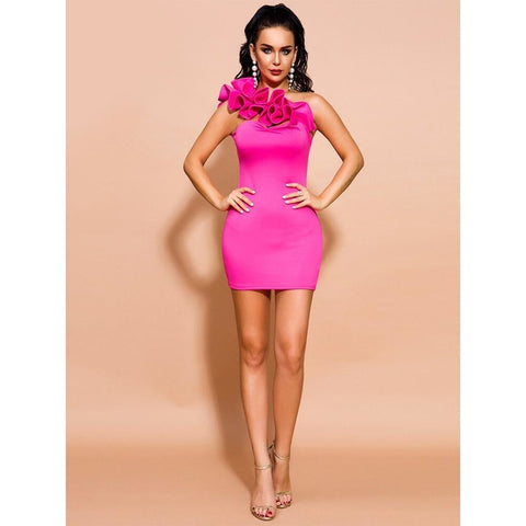 Sonia Irregular Neck Bodycon Dress