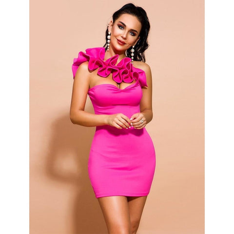 Image of Sonia Irregular Neck Bodycon Dress