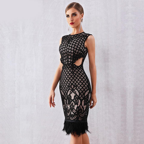 Image of Sophie Sleeveless Lace Dress