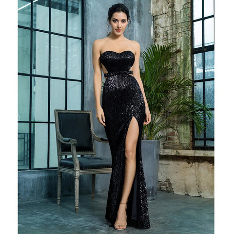 Te Amo Sequin Formal Dress | Black, Formal Dress - Viva Devine
