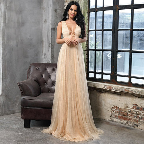 Vienna Glitter Formal Dress, Formal Dress - Viva Devine