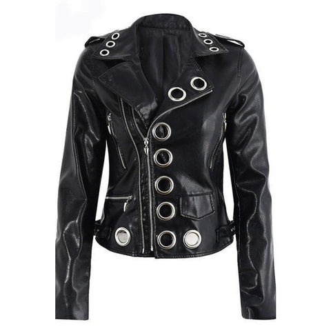 Abigail Leather Jacket, Jacket - Viva Devine