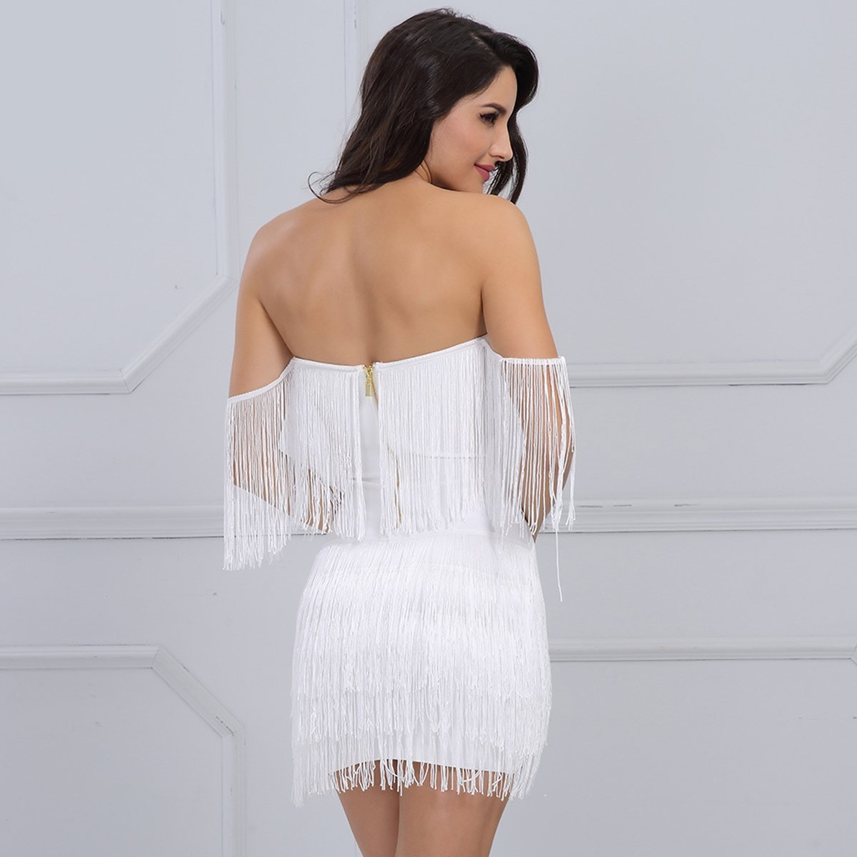 Fern Dress | White, Bandage Dress - Viva Devine