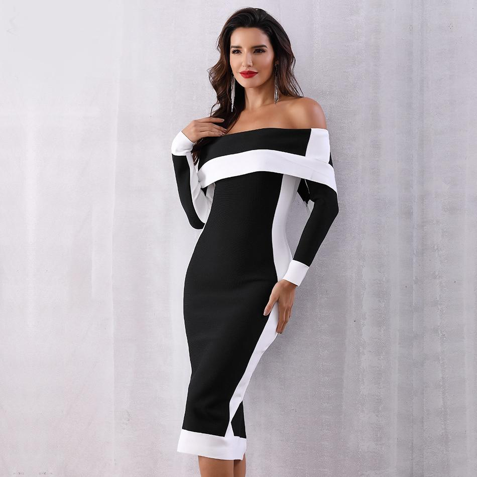 Amiyah Off The Shoulder Bandage Dress