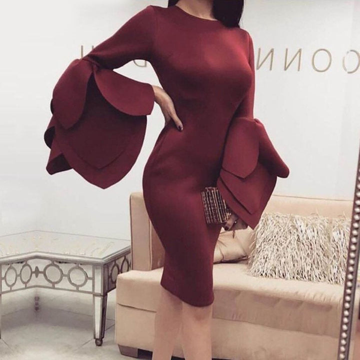 Veronica Dress | Wine Red - Viva Devine