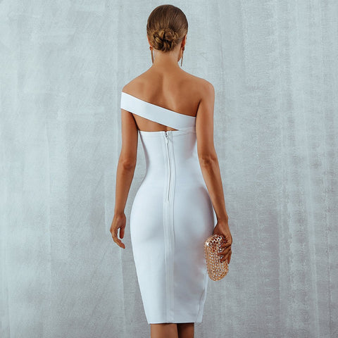 Image of Clara One Shoulder Bandage Dress, Bandage Dress - Viva Devine