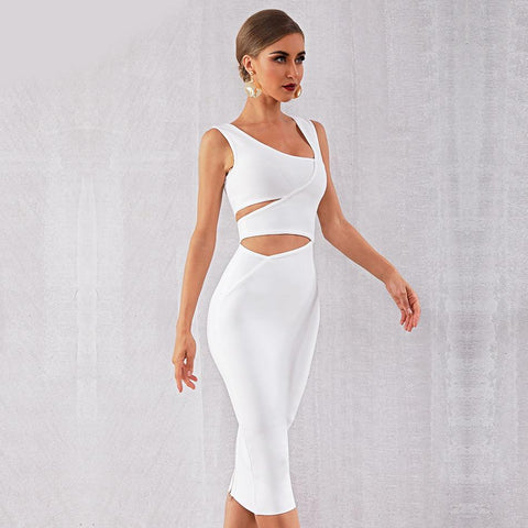 Janet Hollow Out Midi Dress