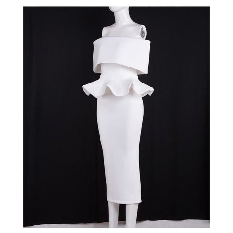 Image of Seledona Two Pieces Dress | White - Viva Devine