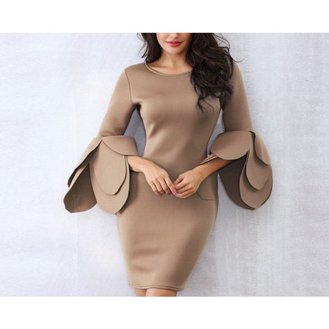 Veronica Dress | Khaki - Viva Devine