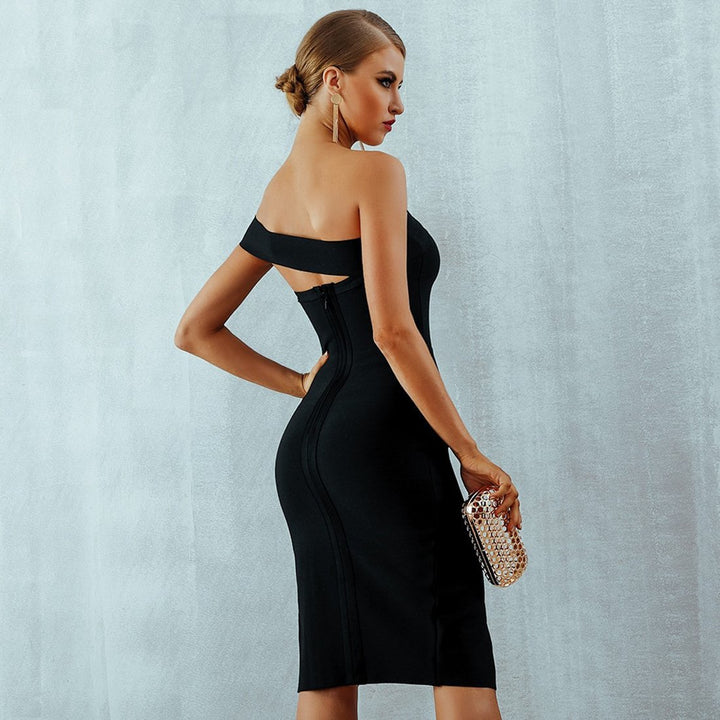 Clara One Shoulder Bandage Dress