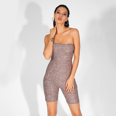 Image of Kami Spotlight Playsuit, Bandage Jumpsuit - Viva Devine