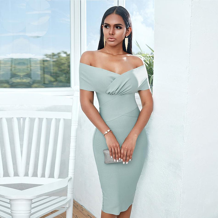 Lucie Off Shoulder Midi Dress