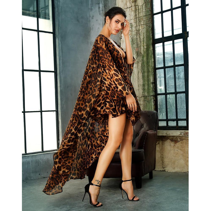 Kylie V Neck Leopard Playsuit