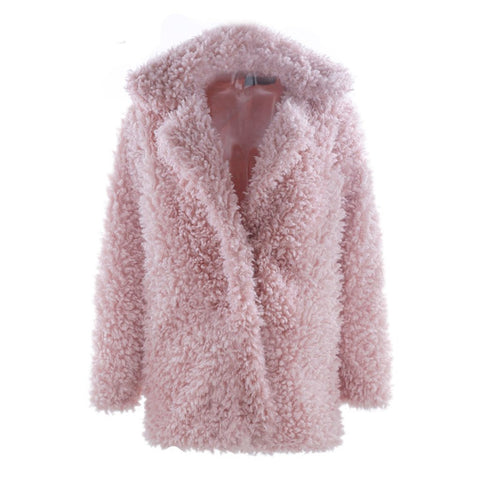 Mina Faux Fur Coat Plus Size, Coat - Viva Devine