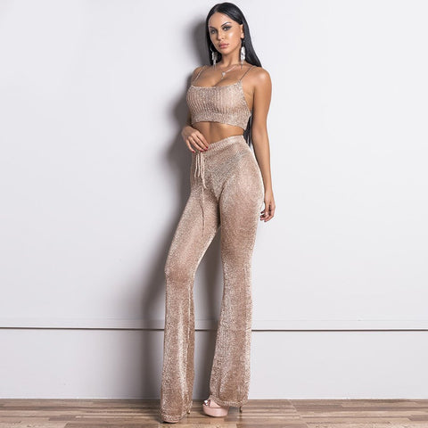 Shona Two Pieces Set Romper, Bandage Two Piece - Viva Devine