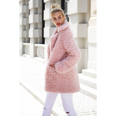Image of Mina Faux Fur Coat Plus Size, Coat - Viva Devine