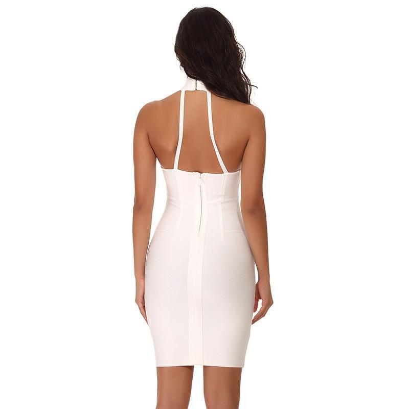 Inez Dress | White, Bandage Dress - Viva Devine