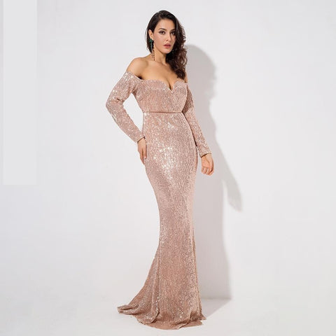 Image of Angela Sequin Maxi Dress, Maxi Dress - Viva Devine