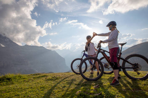 Couple Touring on an Electric Bikes