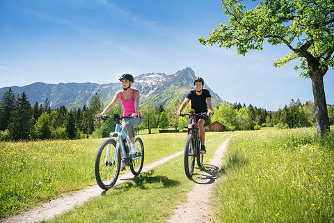 Couple on electric bikes Outdoor Activity